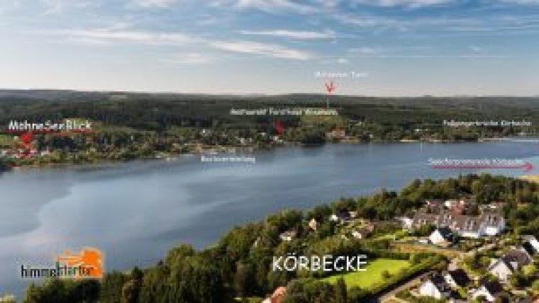 Luftbild MöhneSeeBlick Lagebeschreibung