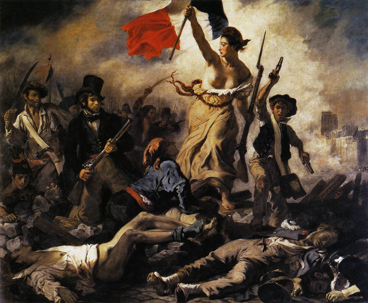 Eugene Delcroix's paiting, Liberty Leading the Nation,