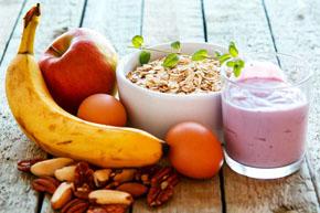 Korrekt mad til en mand vil hjælpe med at genoprette udholdenhed med elskede hjemme