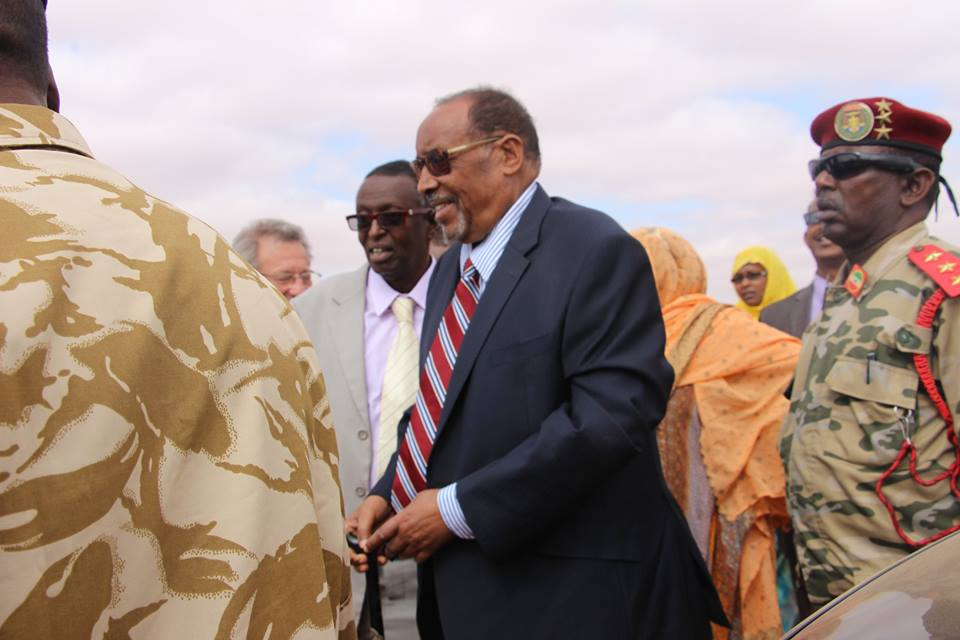 Somaliland President Silanyo attends the launching of Oil Exploration works Ceremony