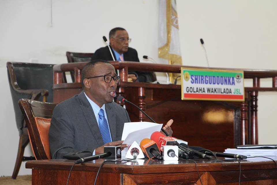 Somaliland Energy Minster presents the Petroleum Policy and Upstream Petroleum Bill Parliament for Approval