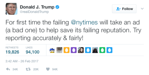The failing New York Times? Not today.