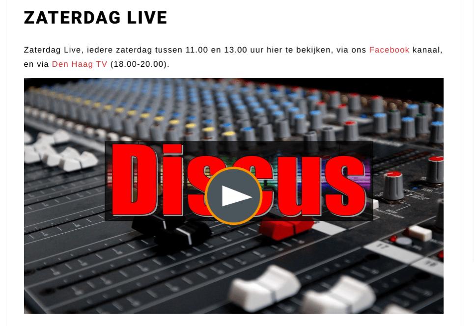 RTV Discus Zaterdag Live! over de Gebiedsontwikkeling Stadsdeel Escamp