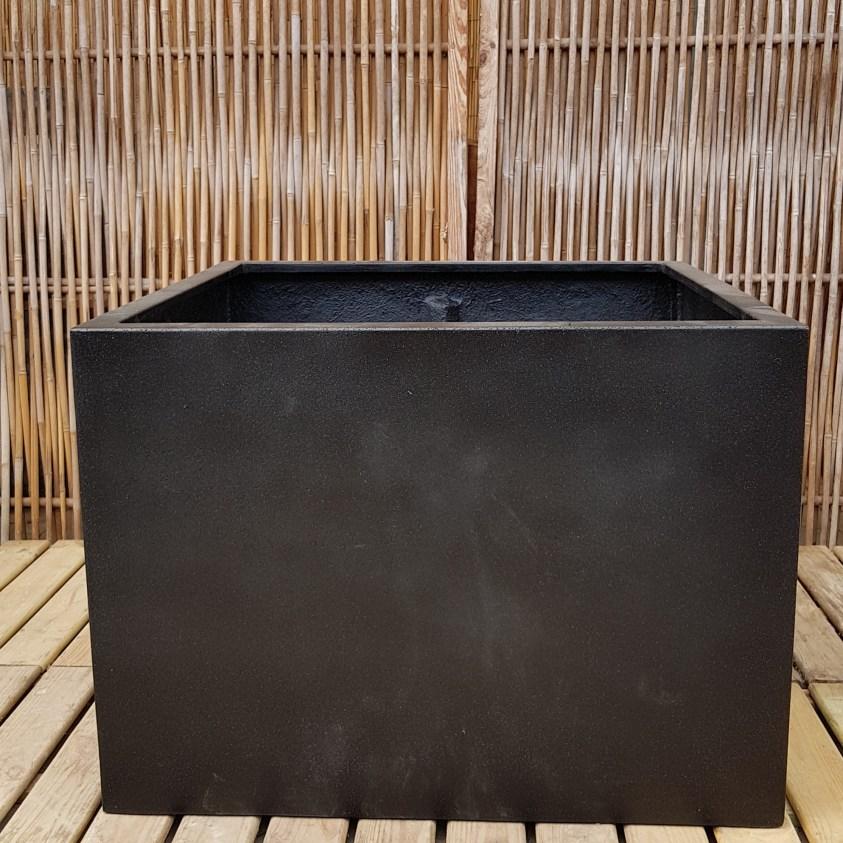 sort firkantet fiberkrukke Gemert 77