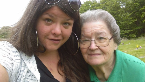 Photo: Rachel and her grandmother recently