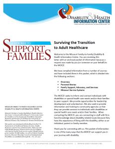 Screenshot: MOF2F Information Packet - Medical Transition