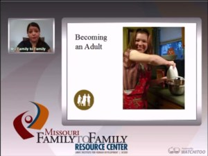 Screenshot: Becoming an Adult webinar screen