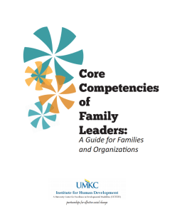 Screenshot: Cover of Core Competencies of Family Leaders: A Guide for Families and Organizations