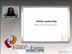 Screenshot: Learning about Leadership webinar