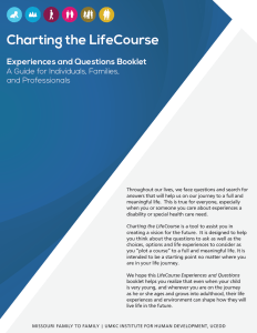 Graphic: Screenshot of Charting the LifeCourse Experiences and Questions booklet