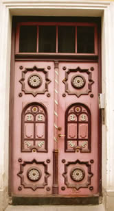 Photo of an ornate door in Tallinn