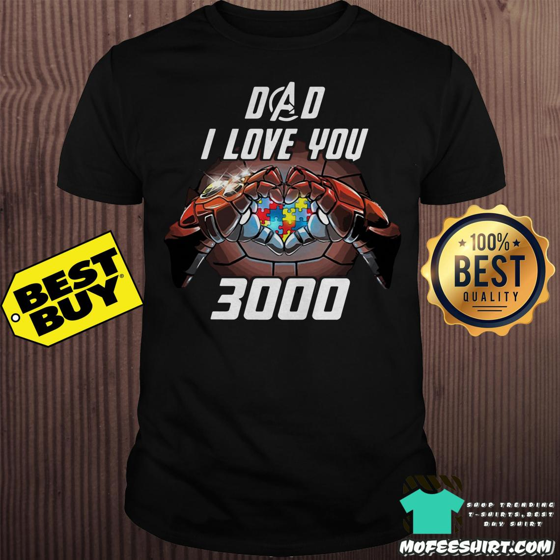 Download Sale 20% Official Dad I love you 3000 Iron man shirt
