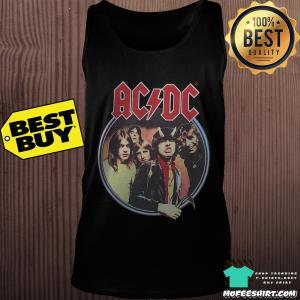 AC/DC Highway To Hell Faded Black Athletic Shirt