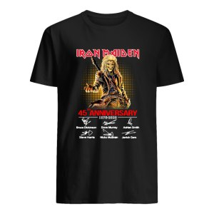 45th Anniversary Iron Maiden 1975 2020 Signature Shirt