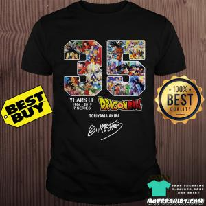 35 Years Anniversary Of Dragon Ball 1984-2019 Signatures shirt