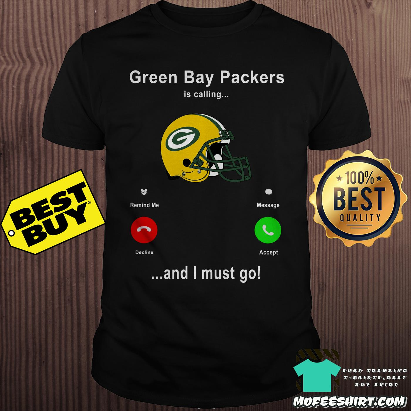 size 40 50f26 a75af [Sale 20%] Official Green Bay Packers is calling and I must go shirt