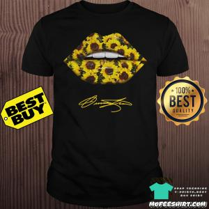 Lips Mouth Sunflower Signatures shirt