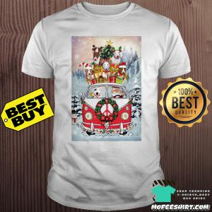 Yoy Dogs Santa in Hippie Christmas shirt