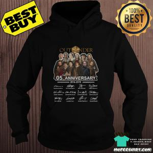 05th Anniversary Outlander 2014-2019 signatures hoodie
