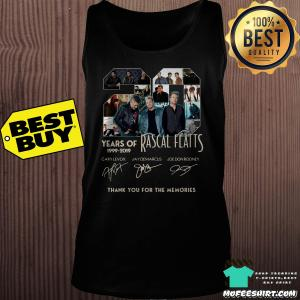 20 Years of Rascal Flatts 1999-2019 thank you for the memories signature shirt
