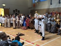 Watching the Niddrie Mill Primary One Nativity Performance.