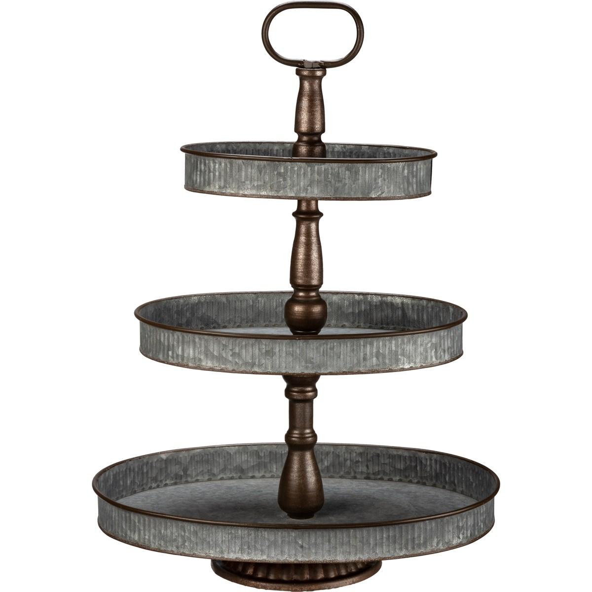 Tray-Oval Three Tier