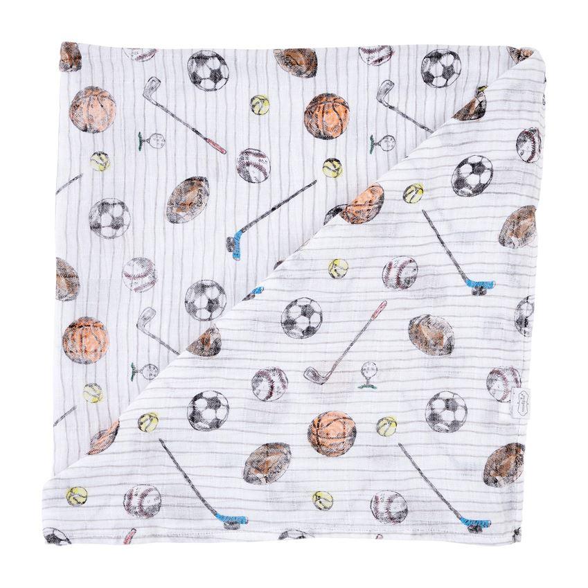 Muslin Swaddle Blanket-Sports