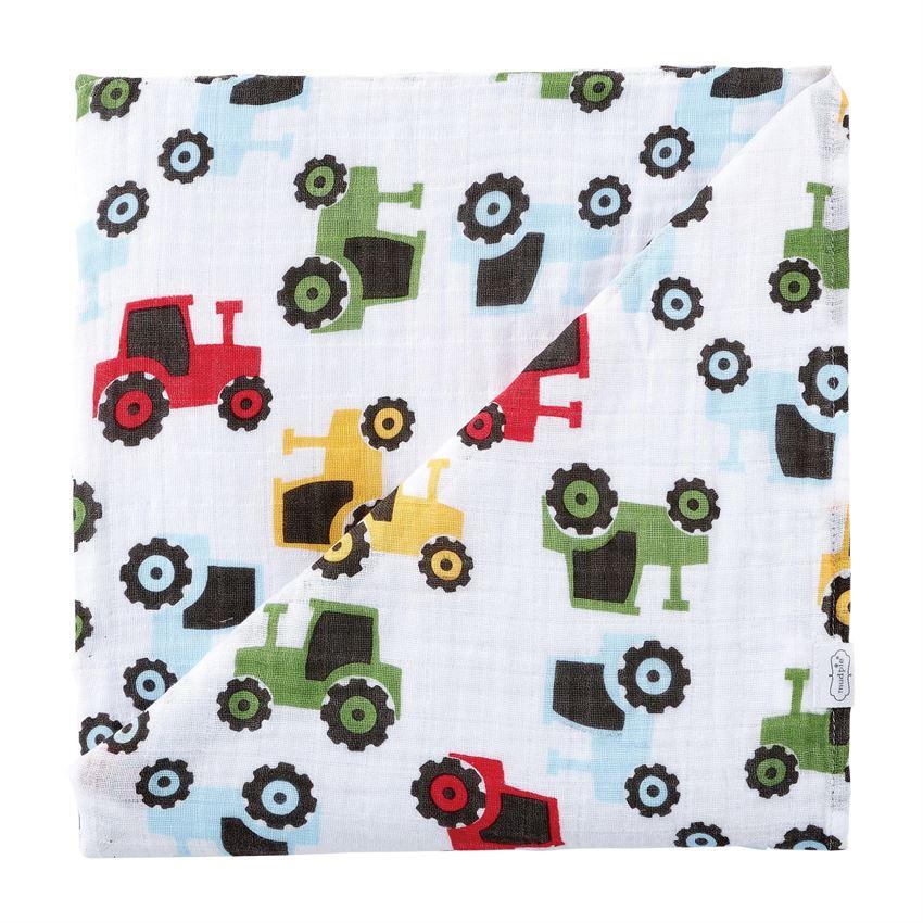 Muslin Swaddle Blanket-Tractor
