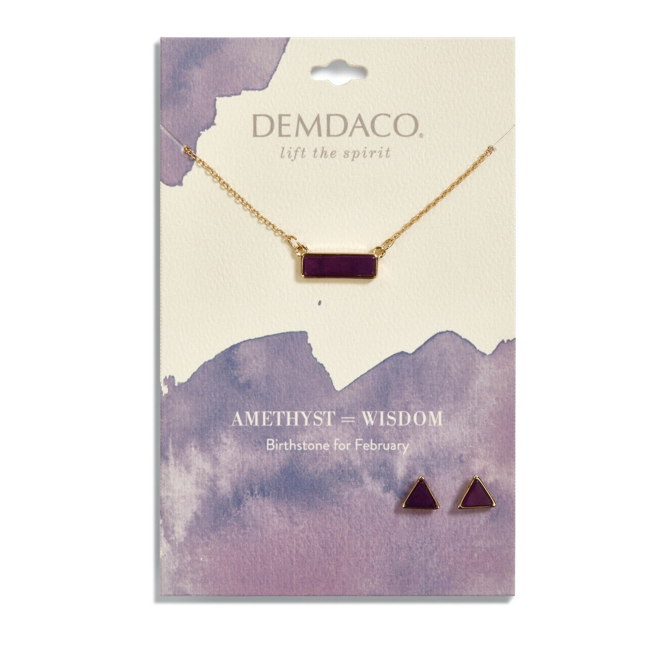Necklace & Earring Set-February