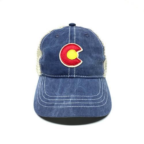 Vintage Denim C-Trucker Hat Small