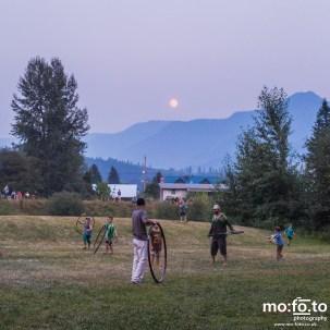 Full moon over Wapiti Festival 2014- 9th August 2014