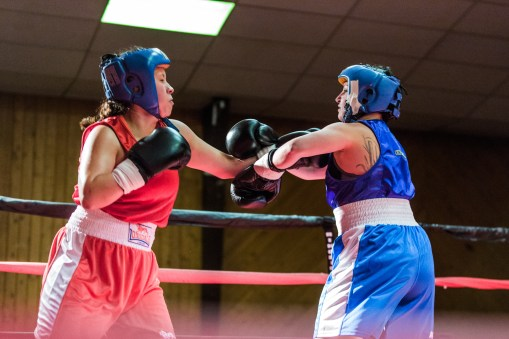 Judgement Night - Fernie Community Centre Boxing Charity Event In Aid of Smiles for Shyanne - 7th February 2015 - Jessica San Vs Lisa Ritchat