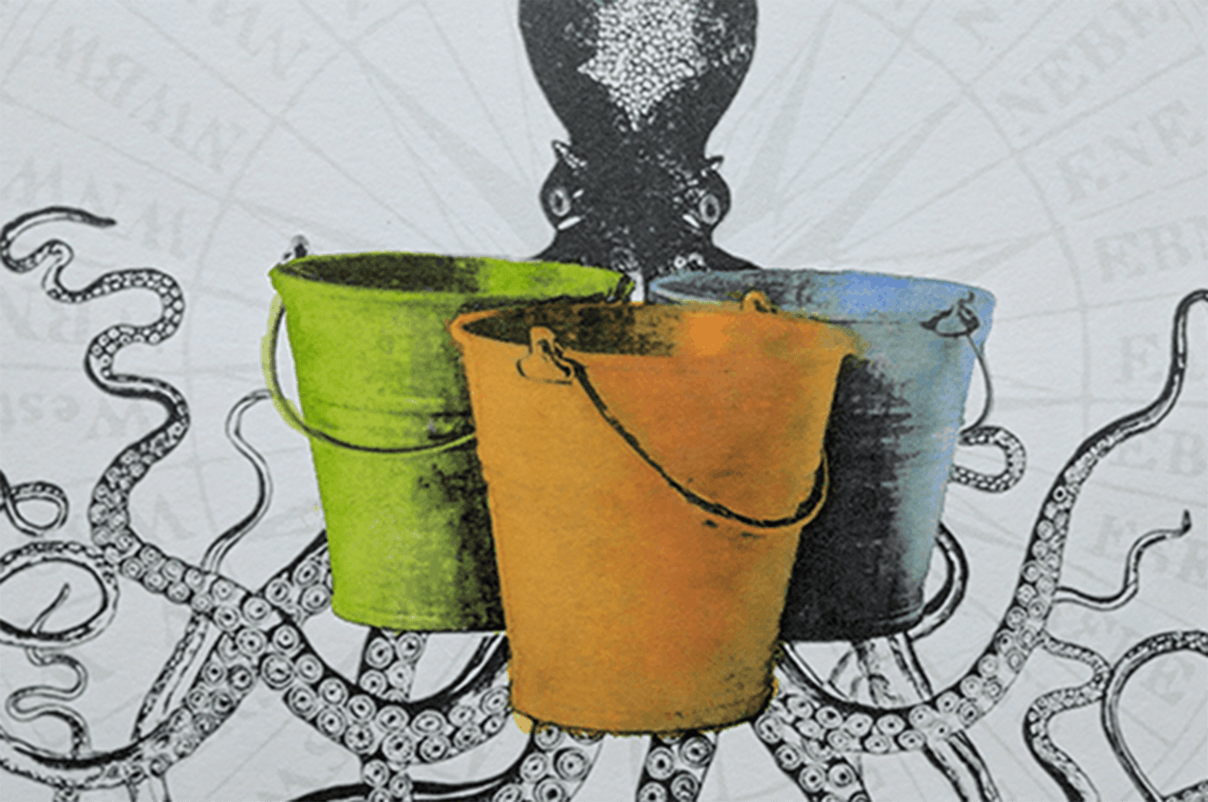Mo Fox Wicked Octopus Buckets Illustration