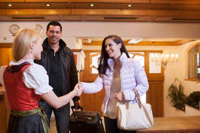 Greeting of hotel guests