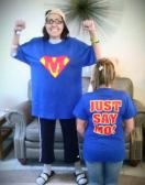 Just Say Mo tshirts! So happy to be out of the hospital and ready to begin the recovery process!