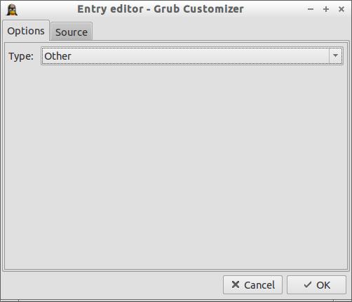 Grub Customizer_Entry editor