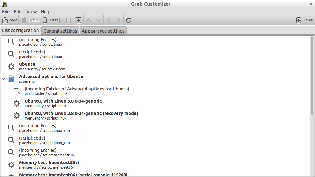 Grub Customizer_起動画面