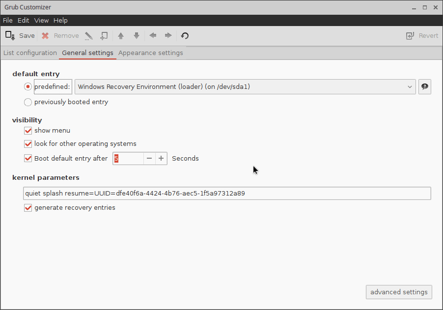 Chromixium_grub-customizer02