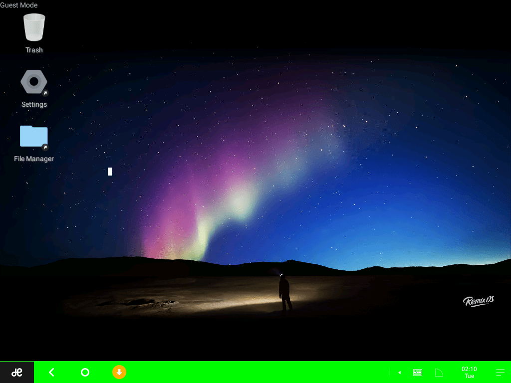 RemixOS_VirtualBox_GuestMode_Home01