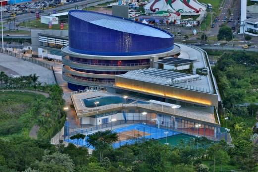 Vista aérea Sesc Jundiaí. Foto: Adauto Perin