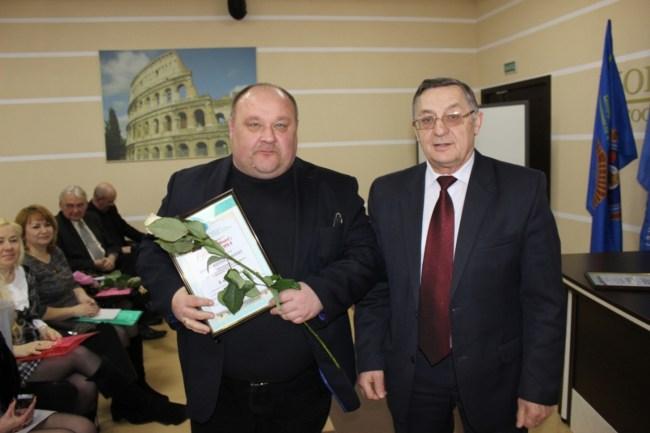 Награждение победителей смотра-конкурса Хоменков Кулешов