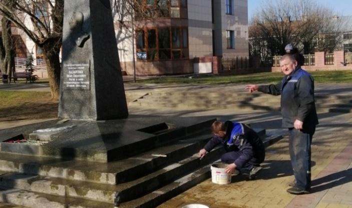 обелиск генерал-майору И.С. Лазаренко