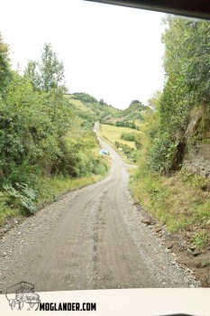 Many of the smaller roads were wide enough for 1 vehicle on Chiloe Island