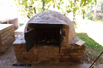 Timber oven from the outside