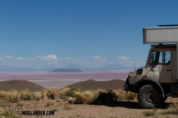 Unimog all set to take on whatever comes in Salar de Uyuini