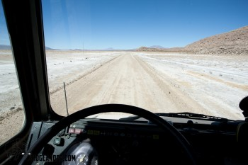 One of the better roads on the route between Bolivia and Chile