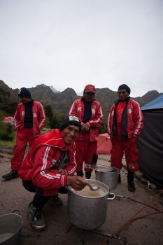 The porters had breakfast at 5am, so when the guests got up, they were ready to rip down the tents and hit the trail.