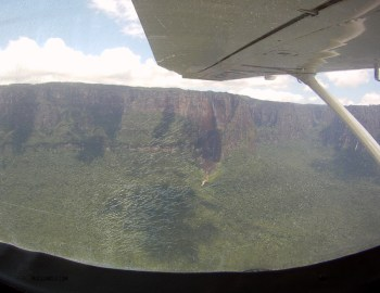 Angel falls from the air using a gopro. Not the right camera for this shot!