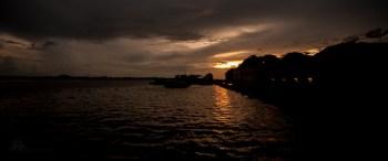 Sundown on the Amazon River