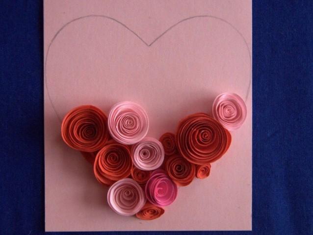 Цветами, открытки с розочками из бумаги